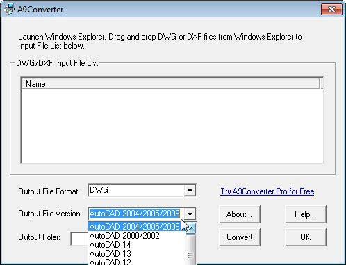 A9CAD fájl verzió