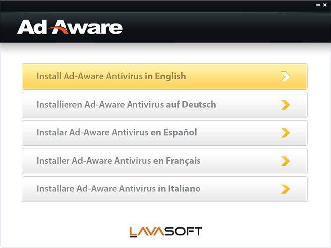 Ad-Aware Free nyelvek