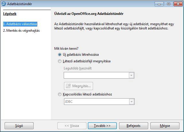 Apache OpenOffice adatbázis