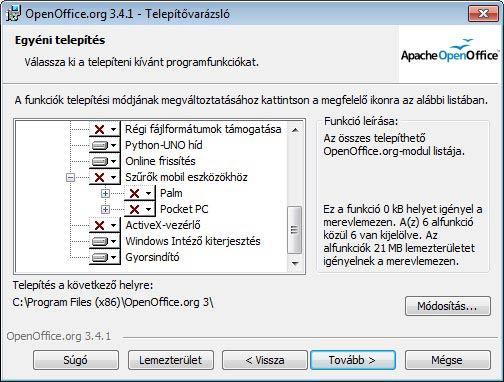 Apache OpenOffice eszközök
