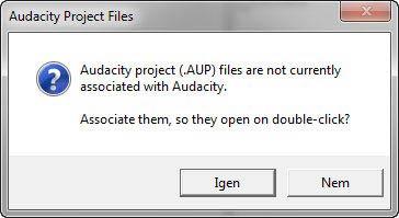 Hordozható Audacity project fájl