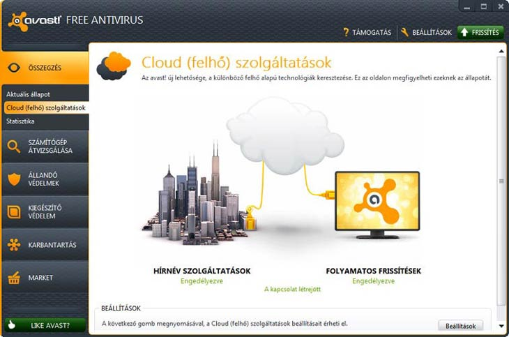 avast! Free Antivirus Cloud