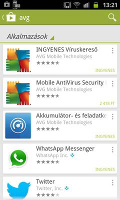 AVG Antivirus Free for Android letöltés