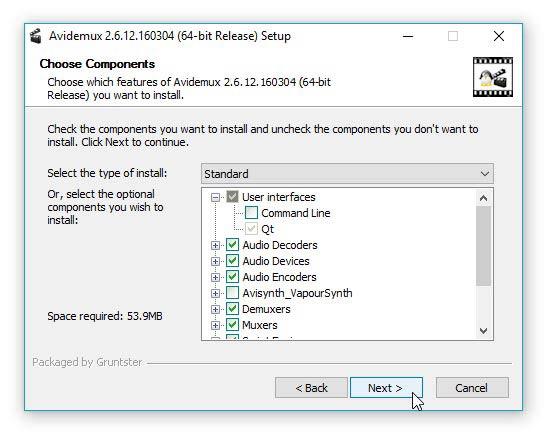 Avidemux Windows 10