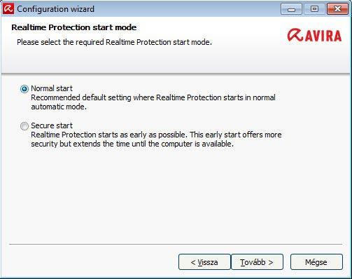 Avira Free Antivirus - beállítás