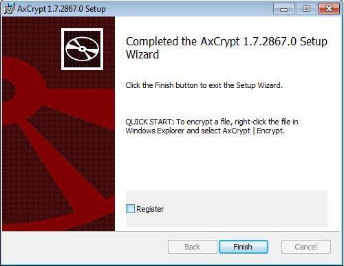 AxCrypt titkosító program