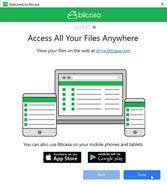 Bitcasa web drive és appok