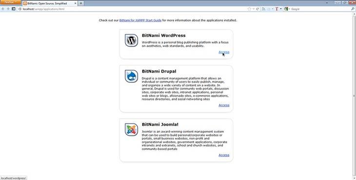 BitNami WordPress, Drupal, Joomla