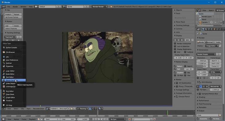 Blender Movie Clip Editor