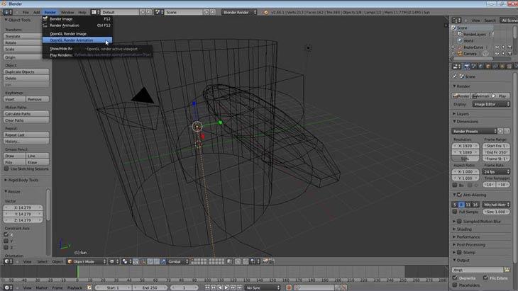 Blender OpenGL