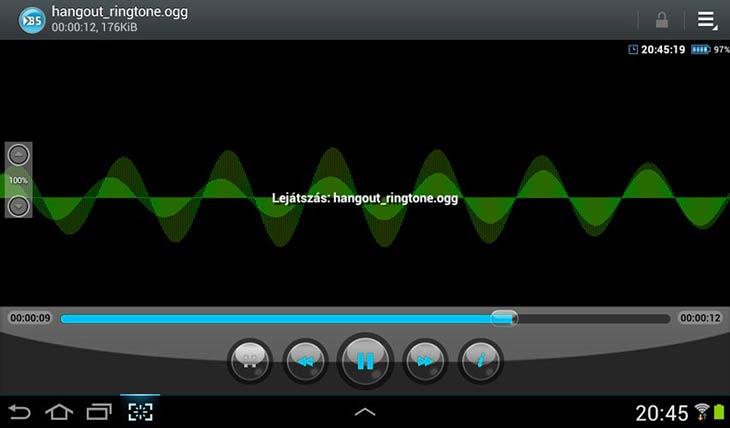 BSPlayer for Android hangfájl lejátszás