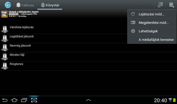 BSPlayer for Android könyvtárak