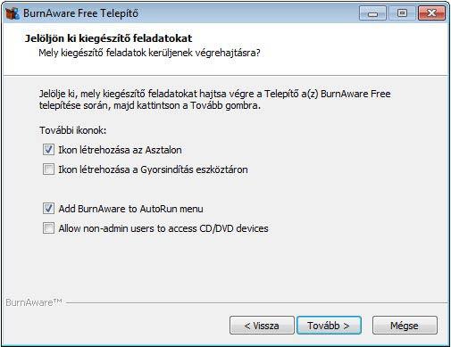 BurnAware Free kiegészítő feladatok