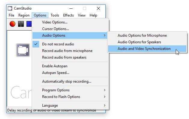 Camstudio hang és videó szinkronizáció