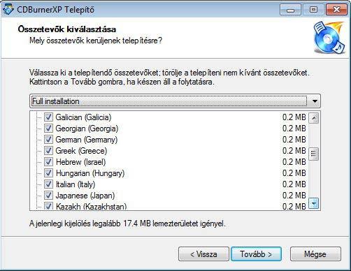 CDBurnerXP magyarul