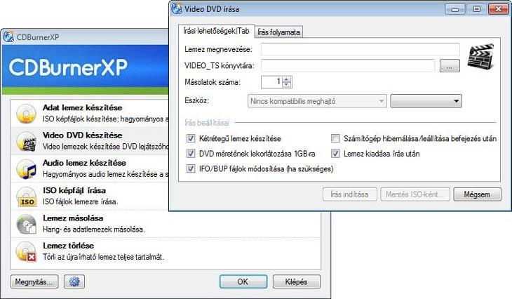 CDBurnerXP Video DVD