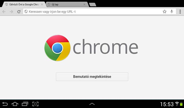 Chrome Androidra fülek