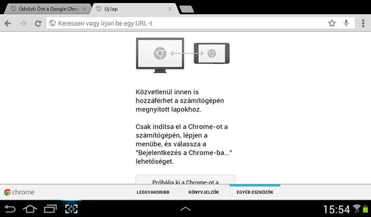 Chrome Androidra fül szinkron