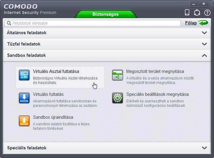 Comodo Internet Security sandbox