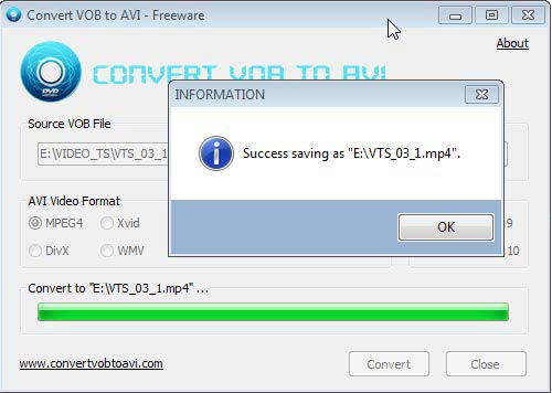 Convert VOB to AVI mp4