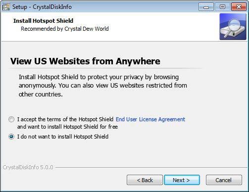 CrystalDiskInfo telepítés