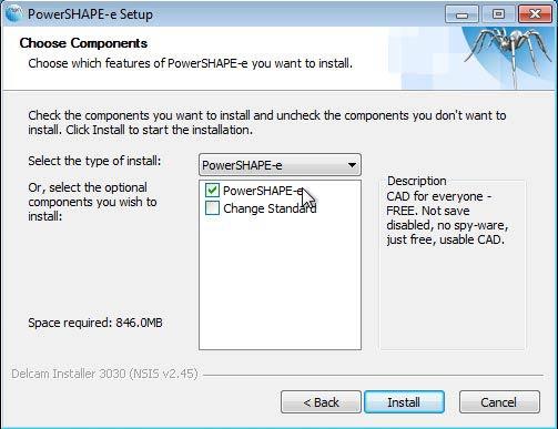 PowerSHAPE-e CAD ingyen