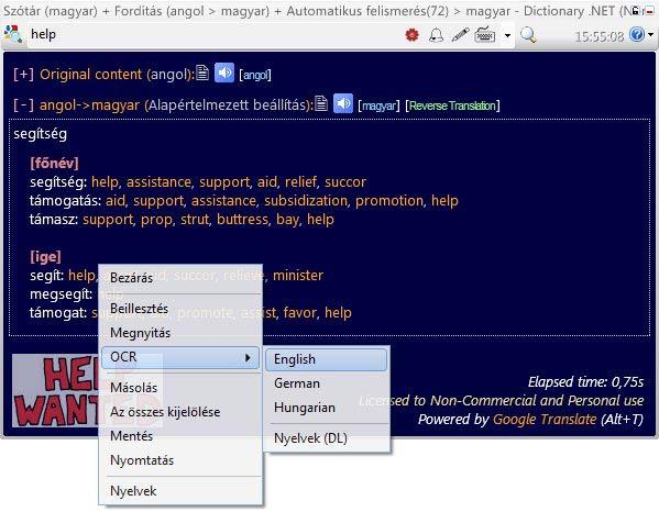 Dictionary .NET kép olvasás