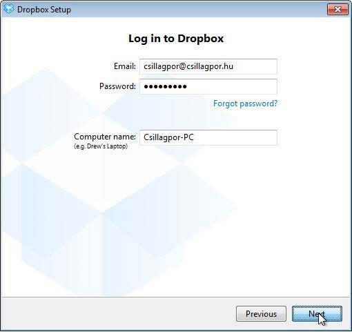 Dropbox fájl szinkronizáló