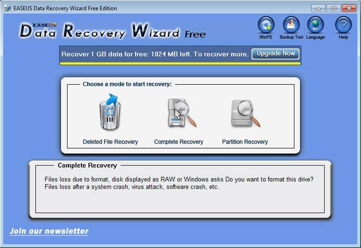 EaseUS Data Recovery Wizard teljes lemez
