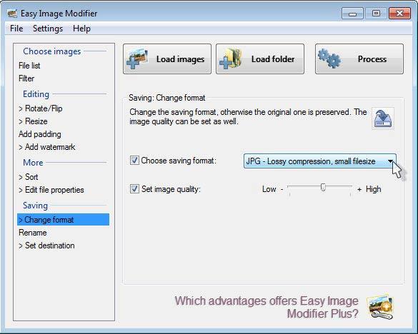 Easy Image Modifier - minőség