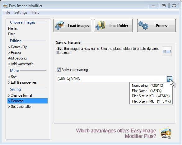 Easy Image Modifier - átnevezés
