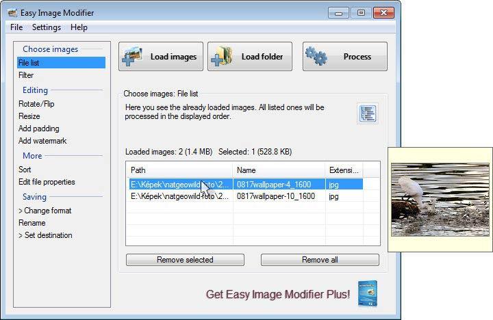 Easy Image Modifier - bélyegkép