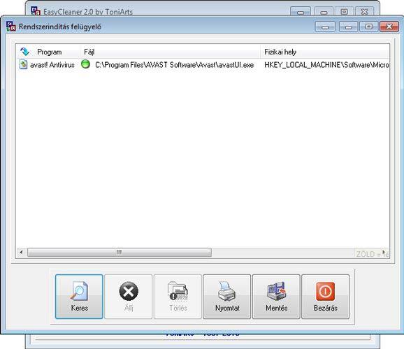 EasyCleaner rendszerindítás