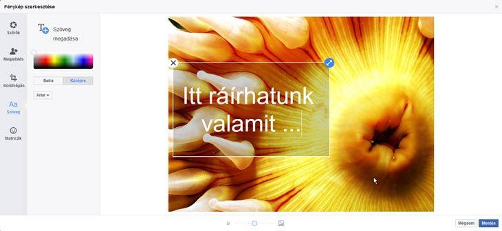 facebook szöveg a képre