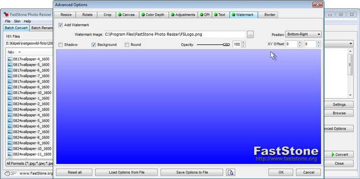 FastStone Photo Resizer - vízjel