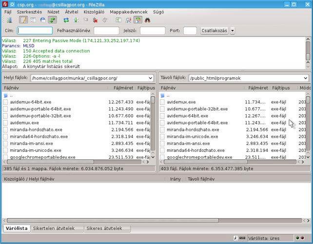 FileZilla Linuxon