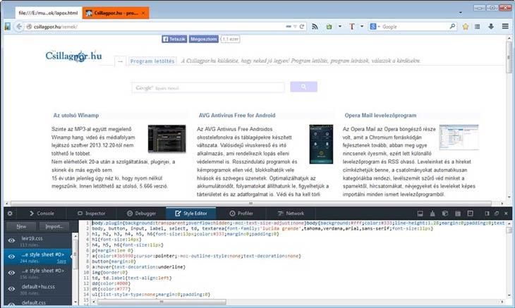 Firefox CSS