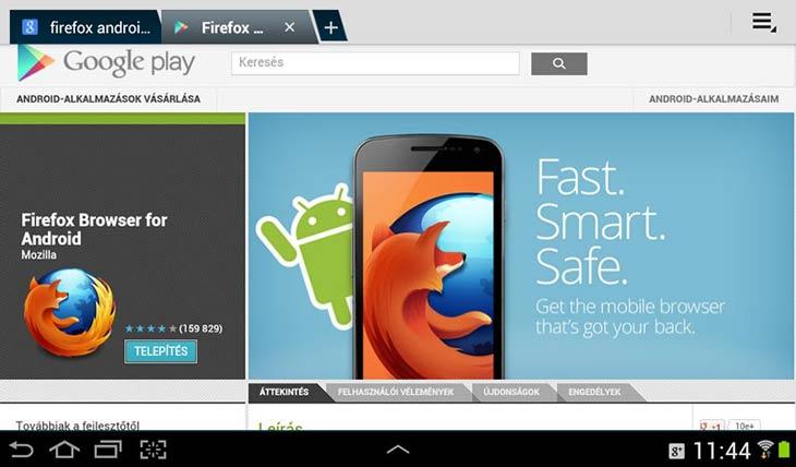 Firefox for Android telepítés