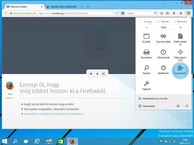 Firefox 33 - Windows 10