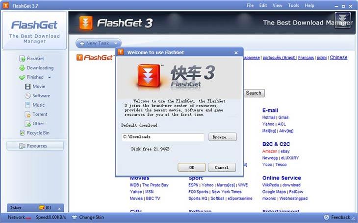 FlashGet telepítés kész
