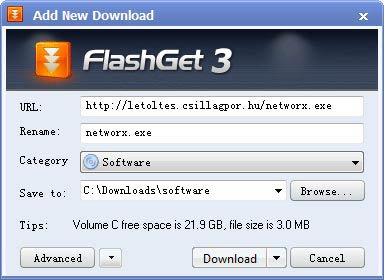 FlashGet új letöltés