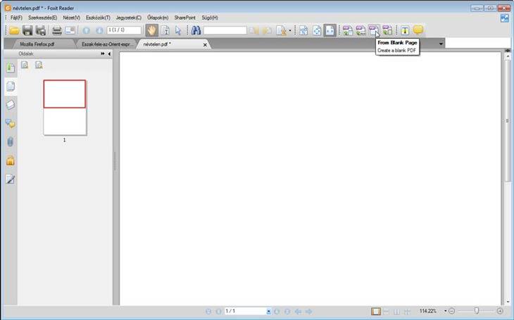 Foxit Reader üres PDF