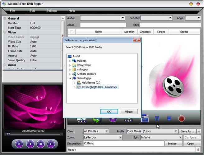 iMacsoft Free DVD Ripper hozzáadás