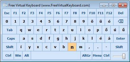 Free Virtual Keyboard első indítás