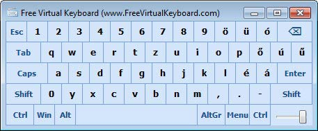 Free Virtual Keyboard egyszerű
