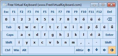 Free Virtual Keyboard kurzor