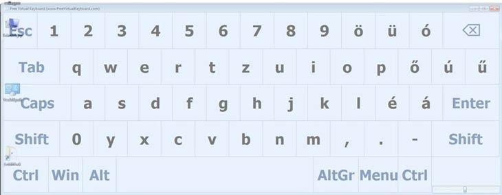 Free Virtual Keyboard méret