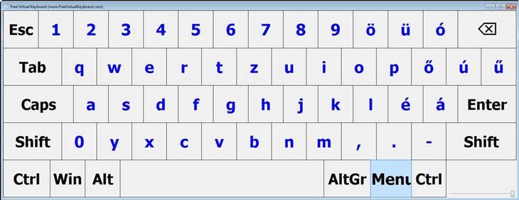 Free Virtual Keyboard szín