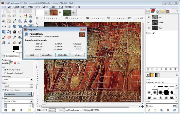 GIMP rétegek és perspektíva