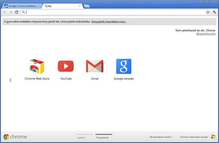 Google Chrome programok